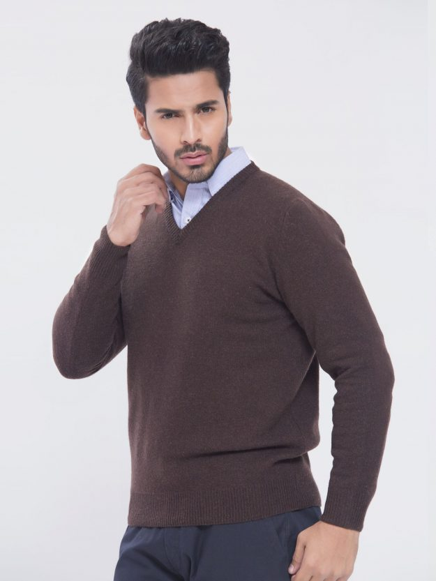 Lambswool Brown Sweater