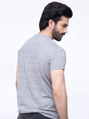Marl Grey V-neck Neck T-Shirt
