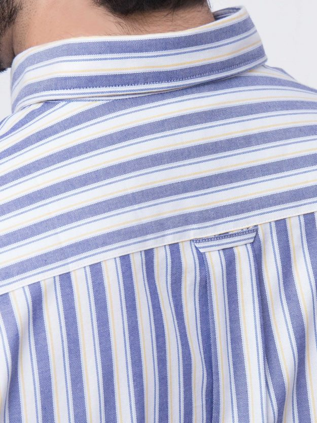 Blue & Yellow Stripe Shirt