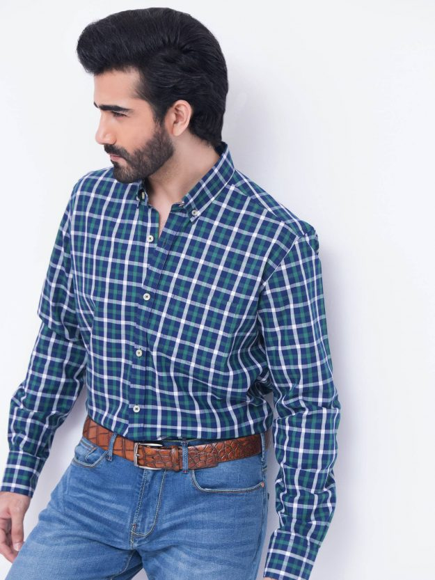 Green & Blue Check Shirt-2-min
