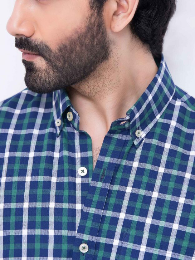 Green & Blue Check Shirt-4-min