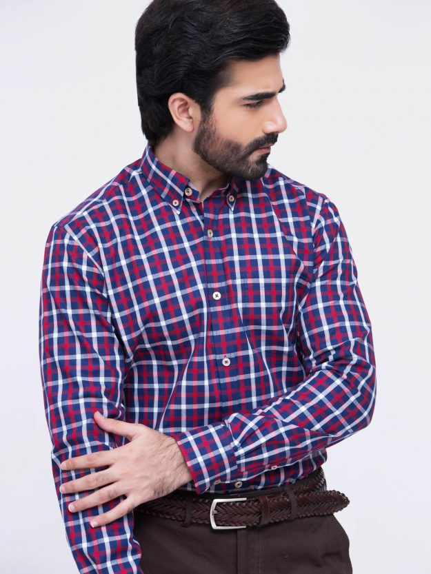 Red & Blue Check Shirt