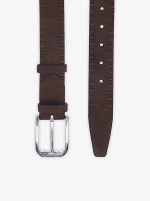 Brown Suede Leather Belt-2
