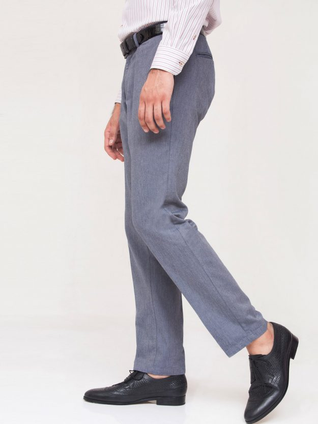 Blue Structured Trouser-2