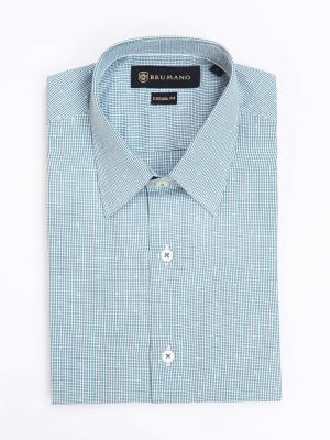 Green Micro Check Shirt