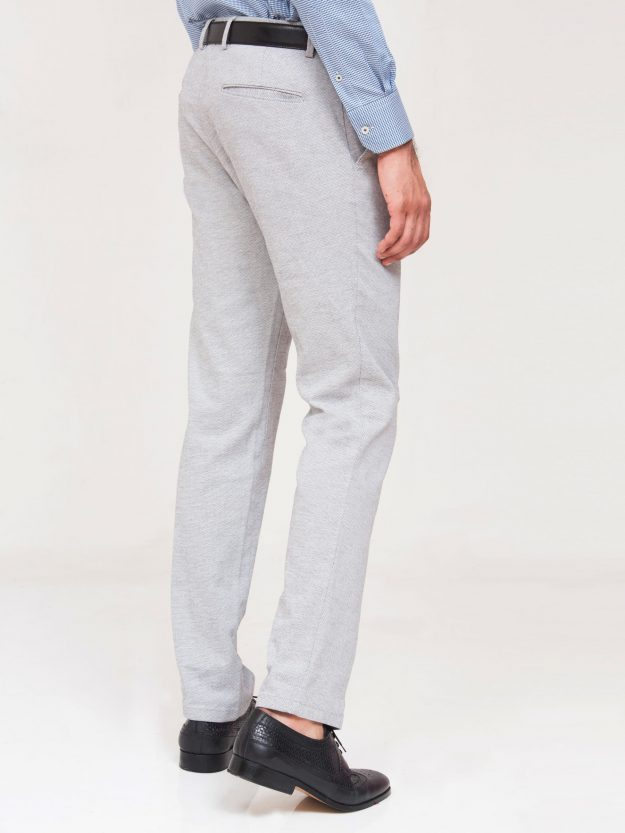 Grey Structured Trouser-4