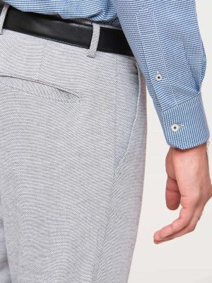 Grey Dobby Structured Trouser