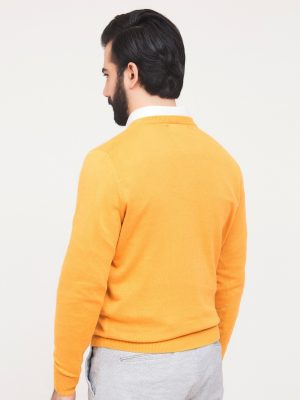 Yellow Crew Neck Sweater