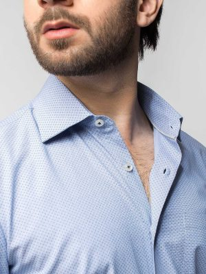 Blue Micro Printed Shirt
