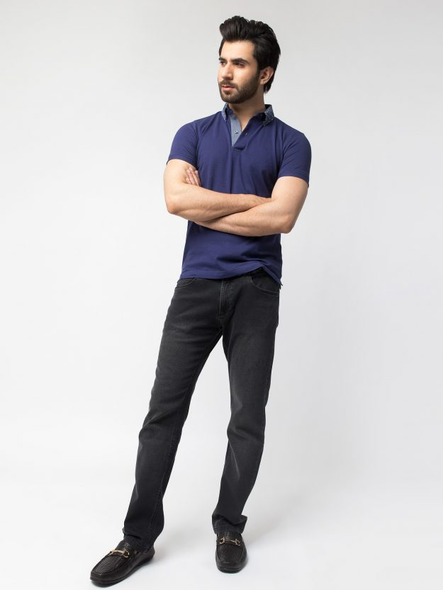 Navy Blue With Contrasting Collar-2