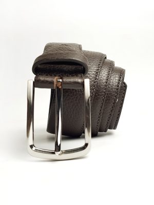 Brown Pebble Leather Belt