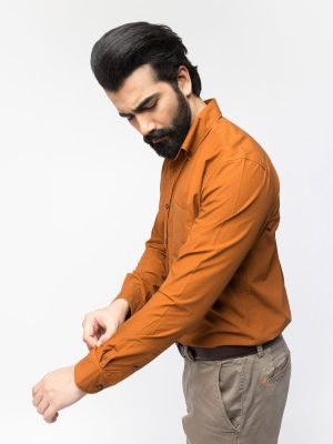 Orange Over-Dyed Shirt
