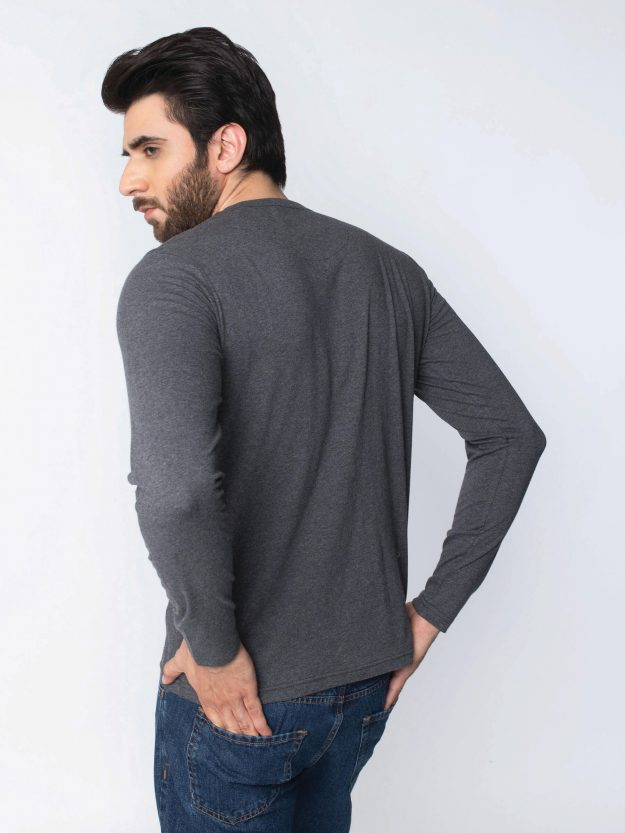 Charcoal Long Sleeve T-Shirt-4