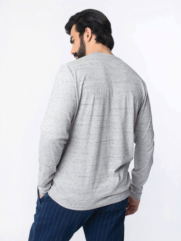 Grey Long Sleeve T-Shirt-5