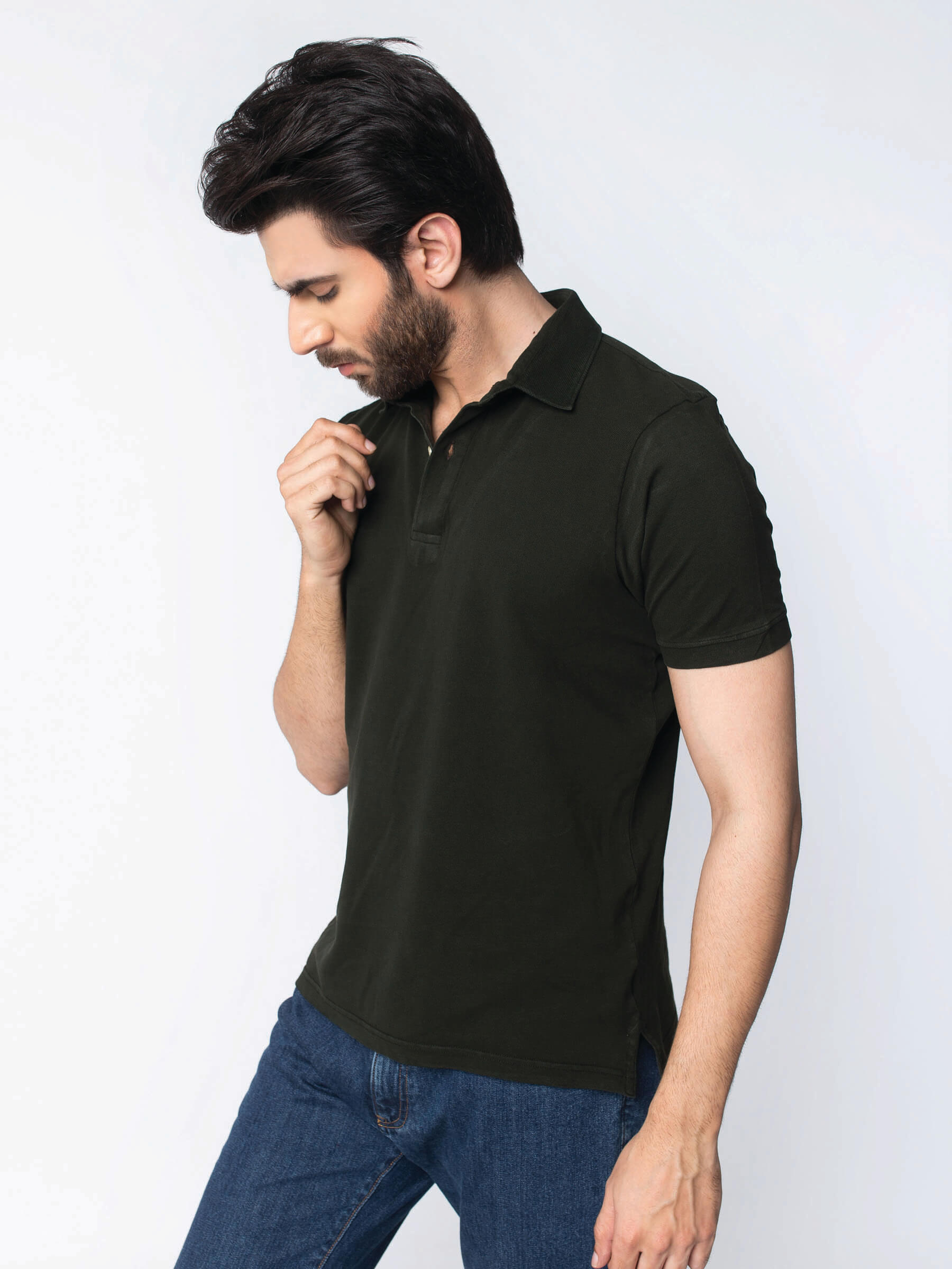 c35f12a2 Olive Green Pique Polo-2. Posted on 05/31/2018 Full size ...