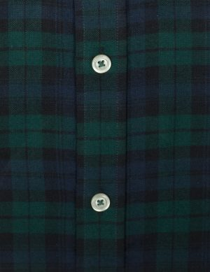 Dark Green Flannel Check Shirt