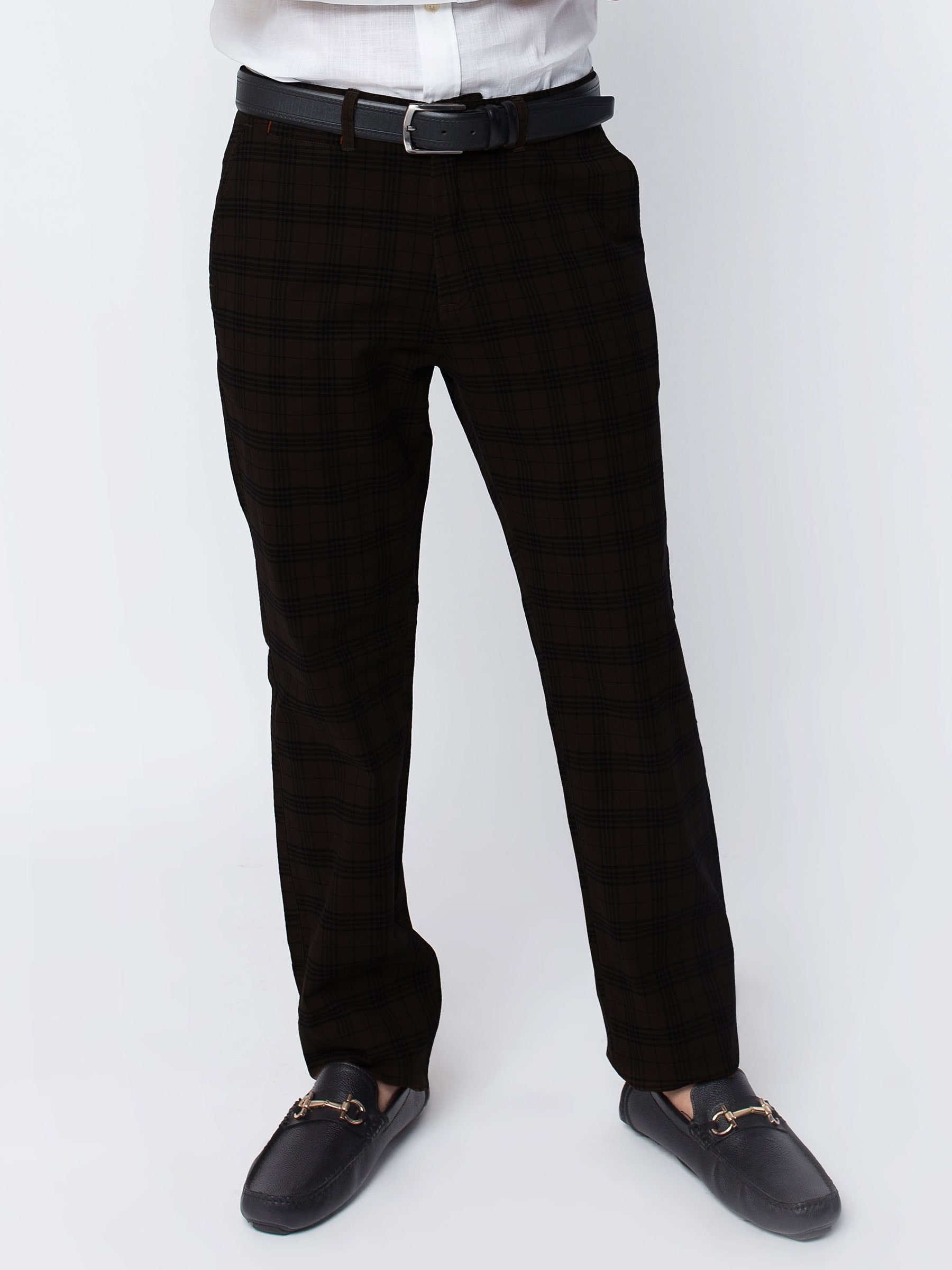 Dark Brown Checkered Trouser 1
